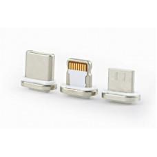 Кабель 3 в 1 USB-Lightning-MicroUSB-Type-C Cablexpert 1m Silver (CC-USB2-AMLM31-1M)