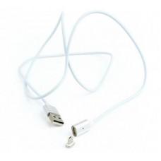 Кабель USB-MicroUSB Cablexpert Magnetic 1m White (CC-USB2-AMmUMM-1M)