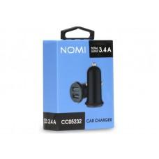 Адаптер автомобильный Nomi CC05232 2USB 3.4A Black