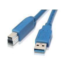 Кабель USB-Type-B 3.0 AM/BM Gembird 3m Light/Blue