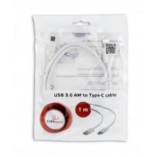 Кабель USB-Type-C Cablexpert 1m White
