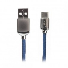 Кабель USB-Type-C Premium Cablexpert 1m синий