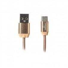 Кабель USB-Type-C Premium Cablexpert 1m золотистый