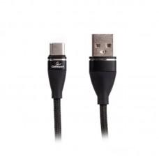 Кабель USB-Type-C Cablexpert премиум 2.4A 1m Black (CCPB-C-USB-11BK)