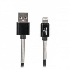 Кабель USB-Lightning Cablexpert премиум 2.4A 1m Black (CCPB-L-USB-06BK)