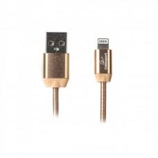 Кабель USB-Lightning Cablexpert премиум 2.4A 1m Gold (CCPB-L-USB-08G)