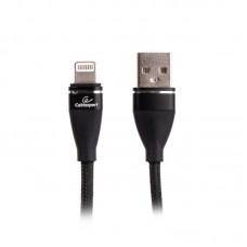 Кабель USB-Lightning Cablexpert премиум 2.4A 1m Black (CCPB-L-USB-11BK)