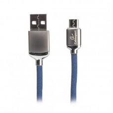 Кабель USB-MicroUSB Cablexpert Premium 1m Blue