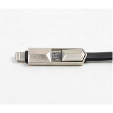 Кабель 2 в 1 USB-Lightning-MicroUSB Cablexpert 2.0 Premium плоский 1m Black