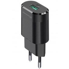 СЗУ Grand-X 1USB 2.1А Black (CH-17T) + cable USB-Type-C