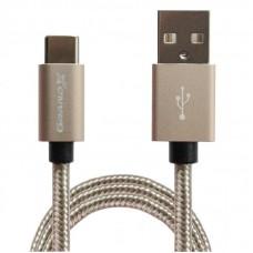 АЗУ Grand-X QC3.0 1USB 3А Black + cable USB-Type-C Black