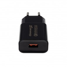 Зарядное устройство сетевое Grand-X Charge QС3.0 Black (CH-350BM) + cable USB-MicroUSB