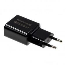 СЗУ Grand-X Charge QС3.0 Black (CH-350TC) + cable USB-Type-C