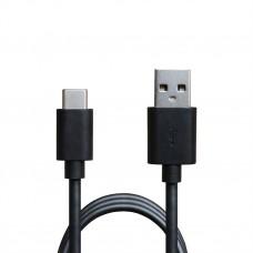 Зарядное устройство сетевое Grand-X 2USB 2.4А Black (CH-45T) + cable USB-Type-C