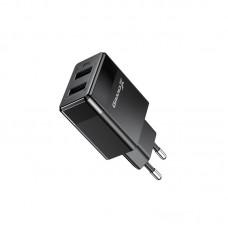 СЗУ Grand-X 2USB 2.4А Black (CH-50T) + cable USB-Type-C