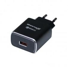 Зарядное устройство сетевое Grand-X QС3.0 3USB 1.5A/2A/3A Black CH-750B
