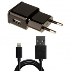 СЗУ Grand-X 1USB 2.1A Black (CH03LTB) + cable USB-Lightning