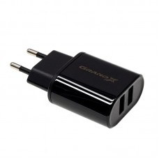 СЗУ Grand-X 1USB 2.1A Black (CH15LTB) + cable USB-Lightning