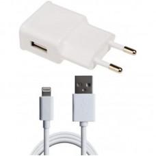 Зарядное устройство сетевое Grand-X 1USB 1A White CH765LTW + cable USB-Lightning