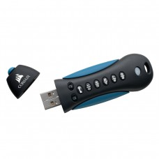 Флешка USB 3.0 16GB Corsair Flash Padlock Keypad Secure 256-bit Black/Blue (CMFSL3X2A-128GB)