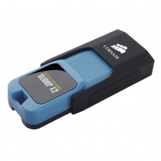 Флешка USB 3.0 256GB Corsair Flash Voyager Slider X2 Capless R200/W90MB/s Blue (CMFSL3X2A-256GB)