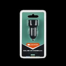 Адаптер автомобильный Canyon 2USB 2.1A Black (CNE-CCA04B)