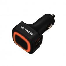 Адаптер автомобильный Canyon 4USB 4.8A Black (CNE-CCA05B)