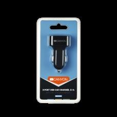 Адаптер автомобильный Canyon 3USB 3.1A Black (CNE-CCA06B)
