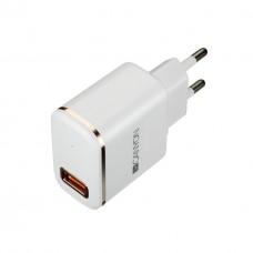 Зарядное устройство сетевое Canyon 1USB 2.1A White (CNE-CHA043WR) + cable USB-Lightning