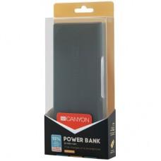 УМБ Canyon 20000mAh 2USB 2.4A Dark Grey (CNE-CPBF200DG)