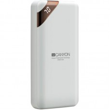 УМБ Power Bank Canyon 20000mAh 2USB Type-C 2.1A White (CNE-CPBP20W)
