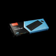 Комплект клавиатура + мышь Wireless Canyon CNS-HSETW3-RU USB Black