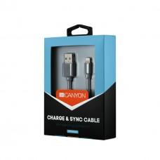 Кабель USB-Lightning Canyon 0.96m Dark Grey (CNS-MFIC2DG)
