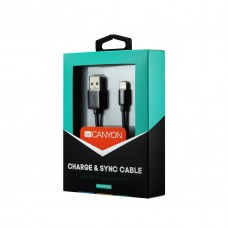 Кабель USB-Lightning Canyon 1m Black (CNS-MFICAB01B)