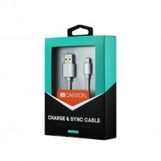 Кабель USB-Lightning Canyon 1m White (CNS-MFICAB01W)