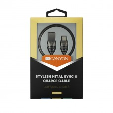 Кабель MicroUSB-Type-C Canyon 1m Dark Grey (CNS-USBC5DG)