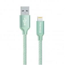 Кабель USB-Lightning ColorWay 2.4A 2m Mint (CW-CBUL007-MT)