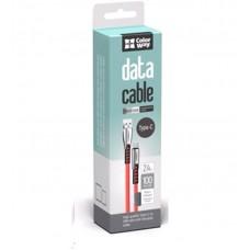 Кабель ColorWay USB-Lightning 2.4А 1m Red (CW-CBUL010-RD)