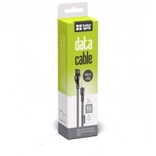Кабель ColorWay USB-Lightning 2.4А 1m Black (CW-CBUL013-BK)