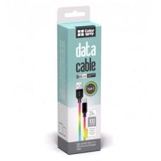 Кабель ColorWay USB-Lightning 2.4А 1m Multicolor (CW-CBUL016-MC)