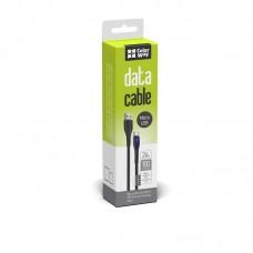 Кабель ColorWay USB-MicroUSB 2.4А 1m PVC Led Black (CW-CBUM034-BK)