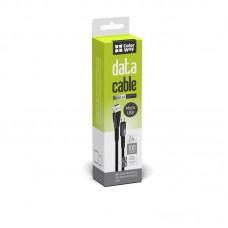 Кабель ColorWay USB-MicroUSB 2.4А 1m Zinc Alloy Led Black (CW-CBUM035-BK)