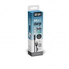 Кабель ColorWay 3 в 1 USB-Lightning-MicroUSB-Type-C Magnetic 2.4A 1m Black (CW-CBUU038-BK)