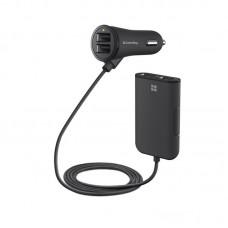 Адаптер автомобильный ColorWay 4USB 1.2A Black