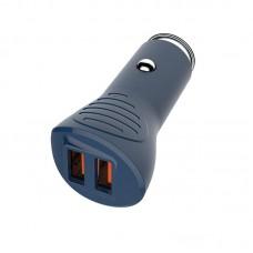 Адаптер автомобильный ColorWay QC3.0 2USB 2.4A 36W Blue (CW-CHA011Q-BL)