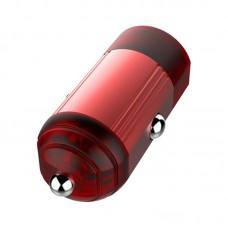 Адаптер автомобильный ColorWay QC3.0 1USB 3A 18W Red (CW-CHA012Q-RD)