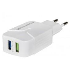 Адаптер сетевой ColorWay 2USB 2.4A White (CW-CHS004-WT)