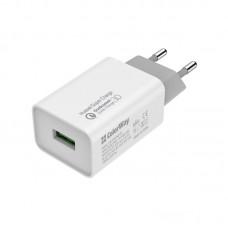 Адаптер сетевой ColorWay QC3.0 1USB 4A White (CW-CHS014Q-WT)