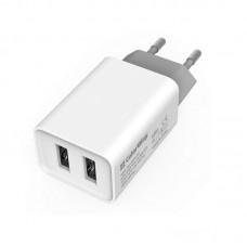Адаптер сетевой ColorWay AutoID 2USB 2.1A White (CW-CHS015-WT)