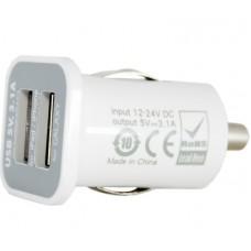 Адаптер автомобильный PowerPlant 2USB 3.1A White (DV00DV5036)